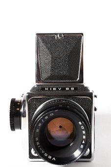 Analog, Camera, Medium Format, Lens, Old Camera