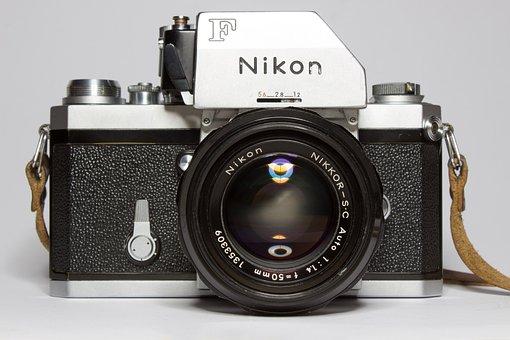 Nikon, Analog, Camera, Lens, Photograph, Retro