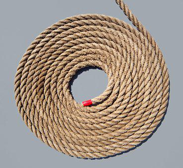 Rope, Rolled, Boot, Ship, Texture, Nautical, Coiled