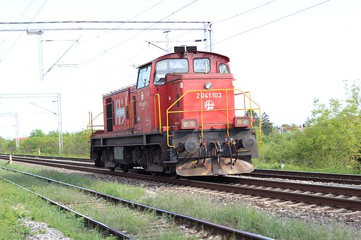Red Locomotive, Railway, Engine, Transport