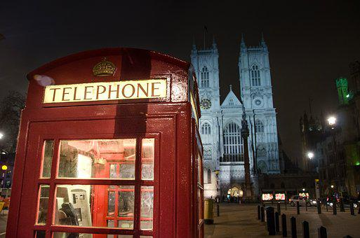 Red, Phone Booth, London, England, Telephone, Phone