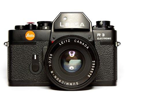 Leica, Camera, Analog, Retro, Black, Lens, Old Camera