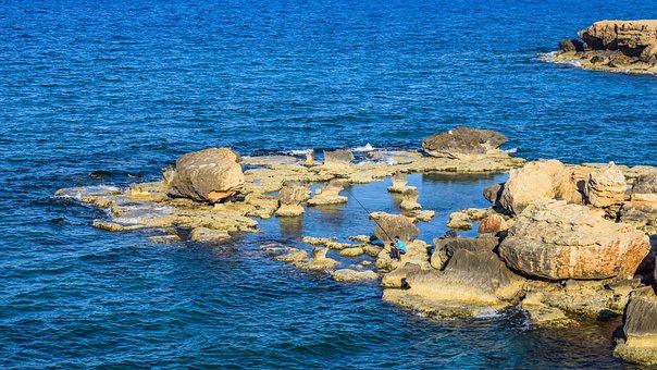 Cyprus, Kapparis, Rock Formations, Rocky Coast, Sea