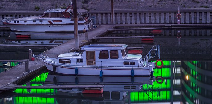 Boot, Inner Harbour, Port, Duisburg, Ruhr Area, Ship