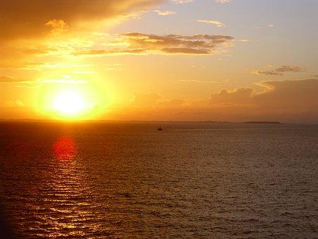 Sunset, Sea, Holiday, Sunset Sea, North Sea