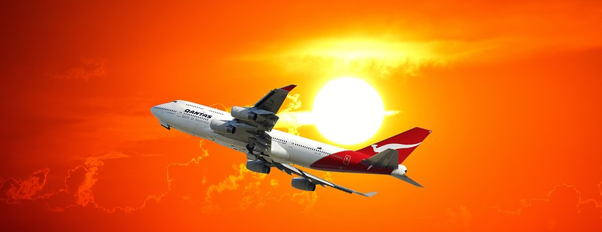 Evening Sky, Jet, Aircraft, Airline Travel, Travel