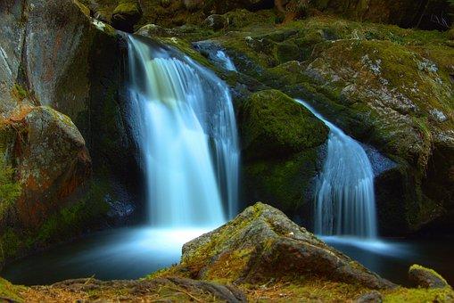 Waterfall, Water, Nature, Landscape, Waterfalls, River