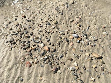 North Sea, Beach, Sand, Flints, Coast, By The Sea