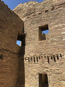 Chaco Canyon, Ruins, Architecture, Walls, Ancient