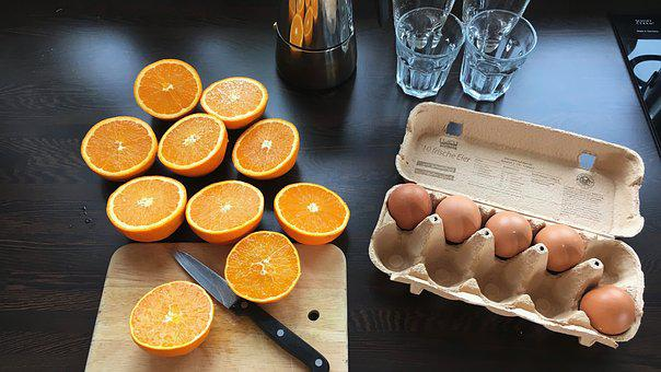 Breakfast, Egg, Juice, Oranges, Squeeze Out