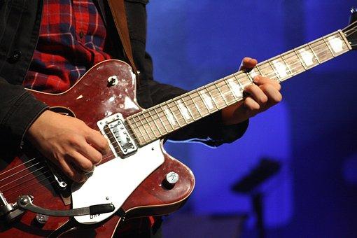 Guitar, Electric Guitar, Instrument, Rock, Music