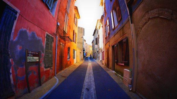 Street, Lane, Colors, Village, Small Street, Summer