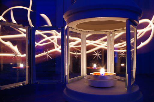 Light Painting, Candle, Light Trails