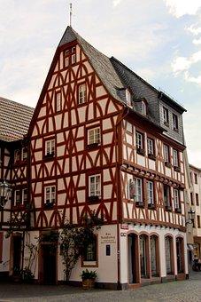 Mainz, Old Town, Rheinhessen, State Capital, Alley