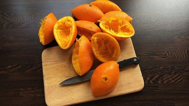 Oranges, Presses, Knife, Breakfast, Extortion, Juice
