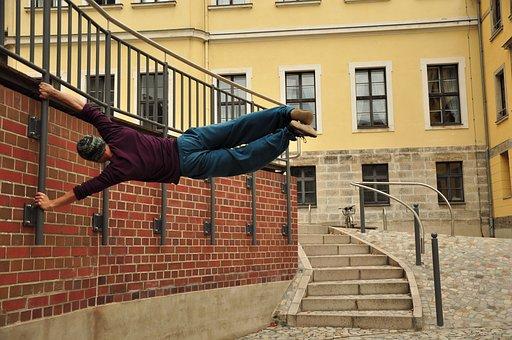 Parkour, Climb, Acrobatics, Sport