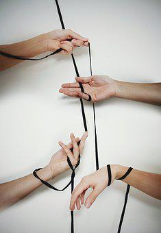 Hands, Cords, Lace, Sustained, Thread, Union, Group