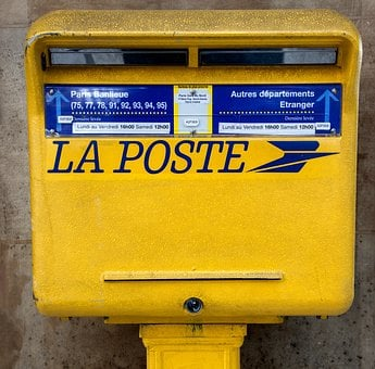 Mailbox, Post, Letters, Yellow, Mailing, Send, Box