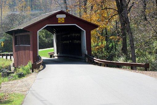 Covered Bridge, Amish, Covered, Bridge, Rural, County