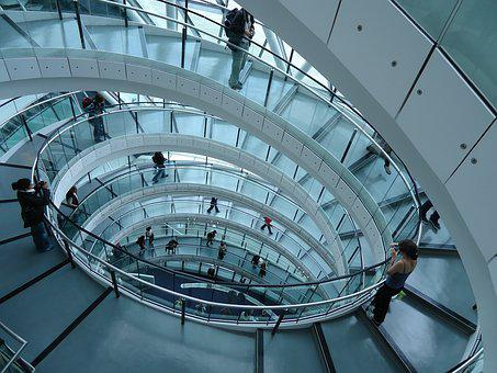 Architecture, Stairs, Modern, Building, Interior