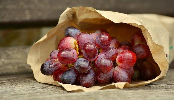 Grapes, Red Grapes, Bag, Blue Grapes, Fruit, Fruits