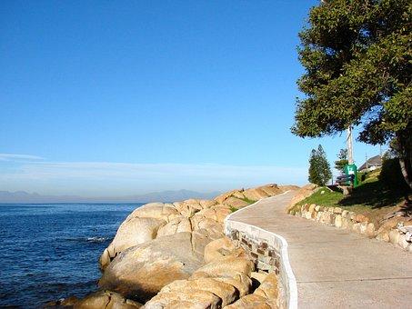 Cape Town, South Africa, Walk, Coastal, Sea, Blue