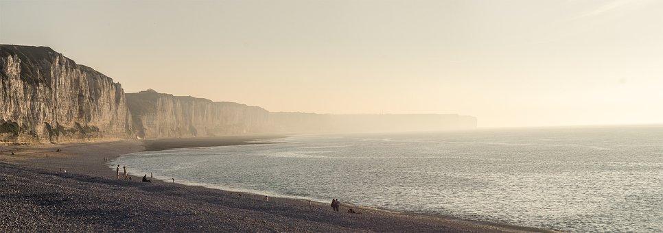 Coast, Sea, Rock, Beach, By The Sea, Holiday