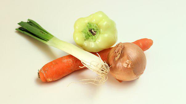 Onion, Carrot, Pepper, Food, Fresh, Vegetable, Healthy