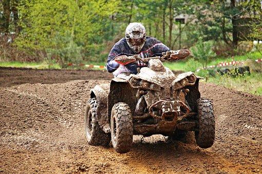 Atv, Quad, All-terrain Vehicle, Cross, Motocross, Race