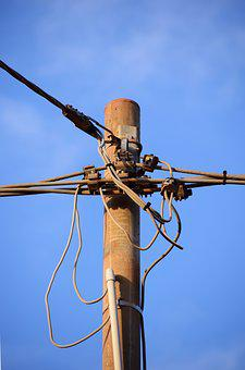 Current, Strommast, Power Line, Electricity