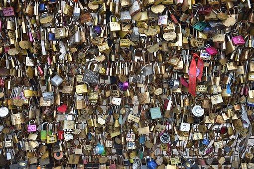 Locks, Love, Paris, France