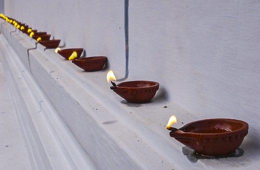 Deepam, Dia, Flame, Festival, India, Kerala, Lamp