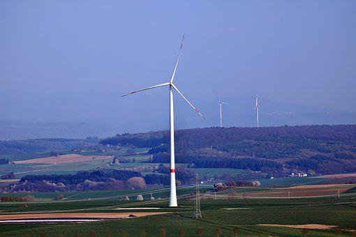 Pinwheel, Landscape, Wind Power, Wind Energy, Windräder
