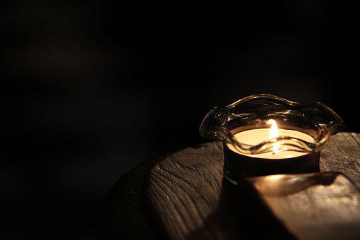 Light, Candle, Lighting, Fire, Peace Of Mind, Glass