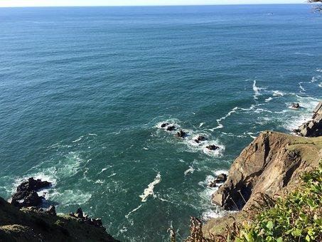 Pacific Ocean, Oregon, Sea, Coast, Pacific, Water
