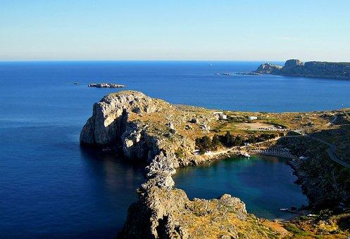 Bay, Heart, St Pauls Bay, Rhodes, Greece, Rhodes Island