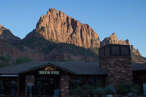 Mountains, Zion, Sunset, National Park, Sandstone