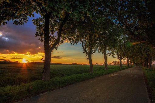 Gelsenkirchen, Resse, Sunset, Ruhr Area, Twilight
