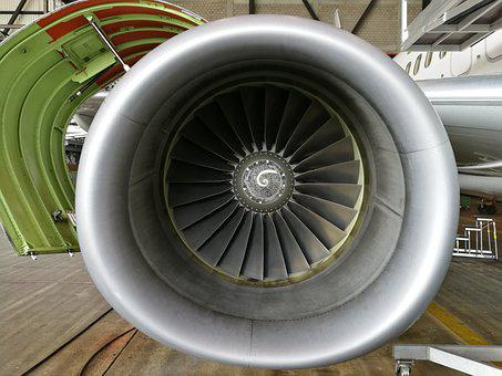 Aircraft, Engine, Front, Jet, Transport, Machinery