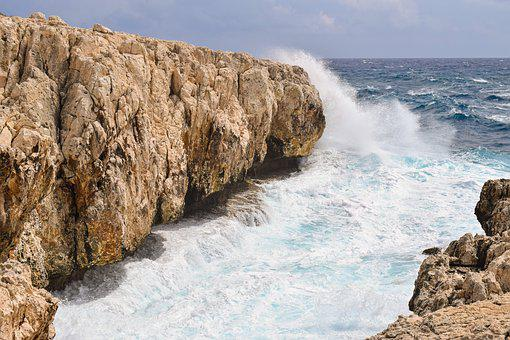 Rocky Coast, Cliff, Sea, Waves, Wind, Nature, Landscape