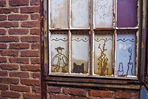 Window, Discs, Graffiti, Art, Lattice Windows