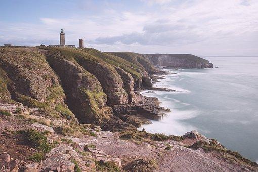 Coast, Lighthouse, Sea, Rock, Brittany, Landmark, Water