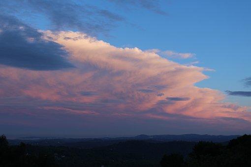 Sky, Cloud, Cote Azur, Sunset Colors, Blue, Sea