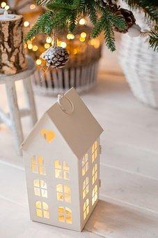 House, Heat, Comfort, Light, Pine Cone, Christmas Tree