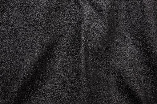 Leather, Black, Background, Texture, Wavy, Detail