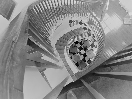 Stairs, Stairwell, Staircase, Interior, Stairway