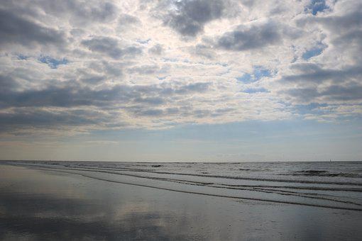 North Sea, Netherlands, Sea, Lake, Water, Beach, Sky