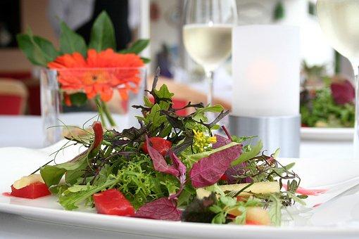 Wild Herbs Salad, Plate, Restaurant, Eat, Gastronomy