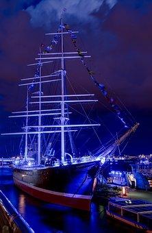 Rickmer Rickmers, Ship, Hamburg, Port, Museum Ship