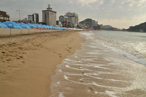Sea, Beach, Summer, Song, Bathing Beach, Korea
